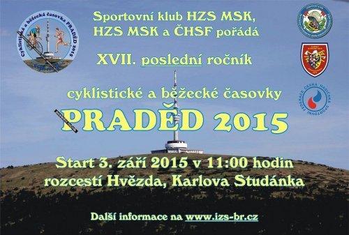 Praděd 2015 bude posledním ročníkem tradiční cyklistické a běžecké časovky