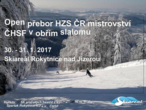 Open přebor HZS ČR mistrovství  ČHSF v obřím slalomu