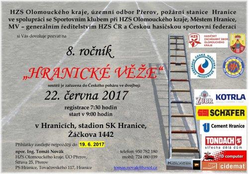 Pozvánka na Hranickou věž - 2017